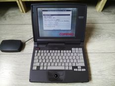 Compaq Contura 430C vintage laptop - DX4 CPU running at 100Mhz, 8MB RAM, 720MB HDD