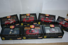 Hot Wheels - Scale 1/43 - Lot with 7 models: 7 x Ferrari