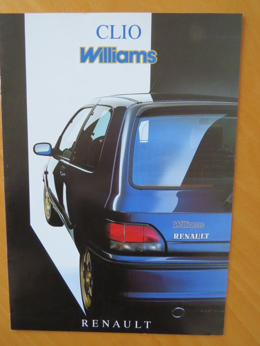 renault clio williams brochures catawiki. Black Bedroom Furniture Sets. Home Design Ideas