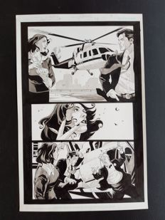 Tony Harris  - Original Art Page - Ex Machina #24 - Page 9 - (2007)