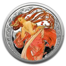 USA - Osborne Mint - 5 oz -Alfons Mucha collection - Dance - Colour edition - edition of 500 pieces - With certificate