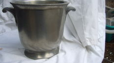 Champagne cooler with handles, pewter of Paris