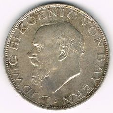 German Empire, Bavaria - 3 Mark 1914 D - silver Lot reference 12224745