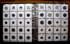 Belgium - 1 Centime through 50 Francs 1835/1998 French (253 different coins) in album