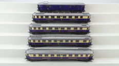 Liliput H0 - 821/822/823/824/825 - Set with 5 Rheingold carriages of the DRG