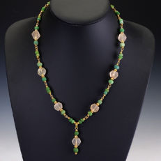 Necklace with Roman glass beads - jewellery box included