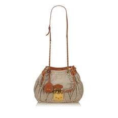 Miu Miu - Gathered Hemp Shoulder Bag