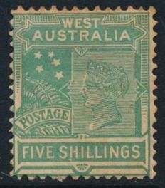 Australian states 1852/1910 - Selection on stock cards