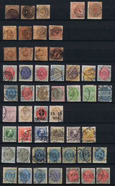Denmark & Danish West India - mostly classic stamps on 5 album sheets