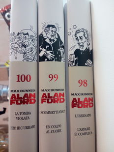 Collection of Alan Ford Copertina Rigida #98, 99 and 100 - Max Bunker,
