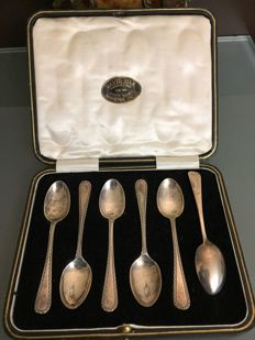 Cooper Brothers & Sons Ltd spoon set in box, England, Sheffield, 1922