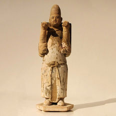 Chinese Terracotta Man of the Honor Guard,  H. 30,5 cm.