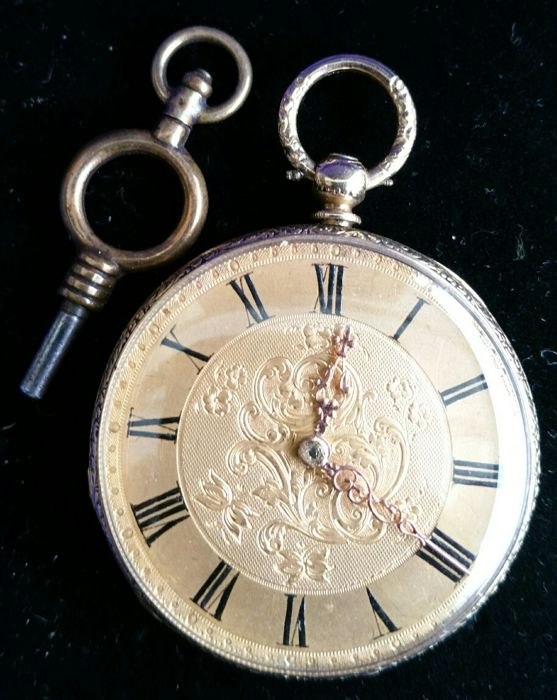 Vieyres & Repingen 18 kt pocket watch from 1870