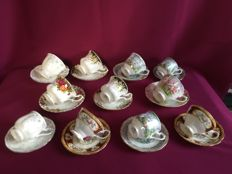 Royal Albert, 11 women's and men's cup and saucers