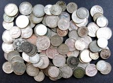 World - Batch of silver coins (115 pieces) - silver