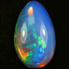Museum piece! Water-clear! Rainbow splashes! Best solid Welo opal ever - 29.00 x 18.00 x 6.55 mm - 18.52 ct