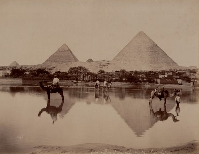 Félix Bonfils (1831-1885) - Floods of the Nile in front of ...