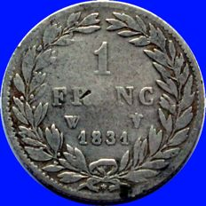 France - 1 Franc 1831 W (Lille) - Louis Philippe I - Silver