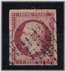 France 1853 – Yvert 18 – signed Calves