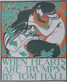 Will Bradley - 'When Hearts Are Trumps' original small lithograph poster from the 'Les Affiches Etrangères Illustrées' series