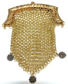 Golden chain mail bag - marked Amsterdam 1841