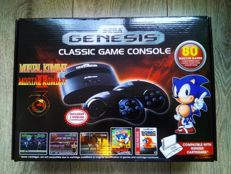 Sega Genesis Classic Game console - complete in box - 80 built-in games: Mortal Kombat trilogy, Sonic, Ristar, Streets of Rage trilogy, etc