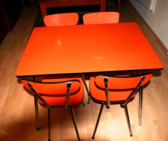 Set Of Formica Table And Four Formica Chairs Brabantia Catawiki