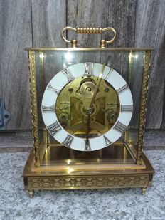 American table clock - Seth Thomas movement - Urn case made of crystal and bronze - approx. 1920