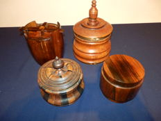 Collection of 4 old tobacco jars
