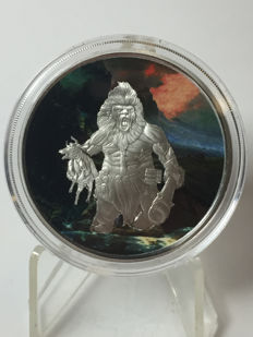 United States – Medal 2016 'Nordic Creatures – Frost Giant in colour – 1 oz silver