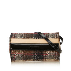 Burberry - Plaid Tweed Shoulder Bag