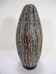 """Marty Gass Murano - Vase from the """"Crisalidi"""" series, unique piece, signed, numbered and dated."""