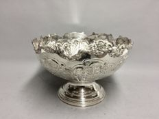 Large silver plated champagne or wine cooler in Art Deco style  decorated in reliëf