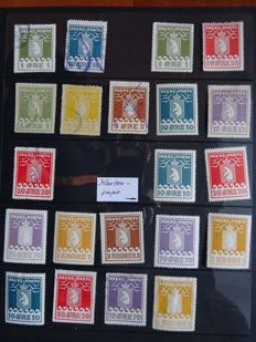 Greenland 1915/1937 - A small selection of 21 Pakke Porto
