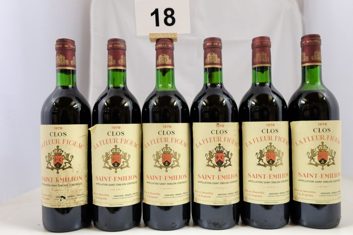 1978 Clos la Fleur Figeac Saint-Emilion Grand Cru France  6 Bottles