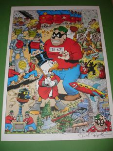 Rosa, Don - Signed Print - Scrooge McDuck and the Beagle Boys
