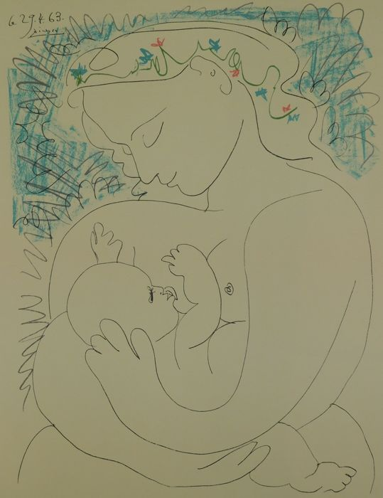 Pablo Picasso (naar)  - Mother and Child