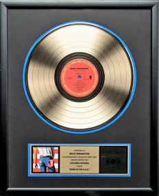 """Bruce Springsteen Gold Record Award - """"Born in The USA"""""""