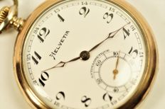 HELVETIA  - men's pocket watch  co. 1918s
