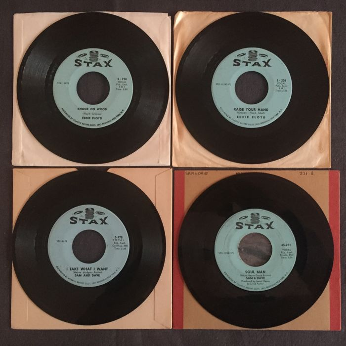 Memphis Stax Soul Singers - Eddy Floyd and Sam and Dave - Lot of 16 original USA 45 RPM singles - (1965/1968)