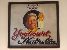 Advertising board on hardboard - yogurt Nutrella - 1953