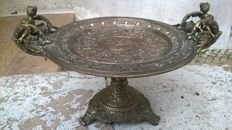 Bronze tazza or center piece plate - France - 19th century
