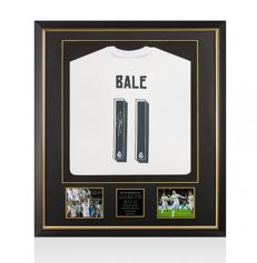 Gareth Bale / Signed Real Madrid 'Champions League Winning' 15/16 shirt in Premium Deluxe Frame + COA A1 and Photoproof!