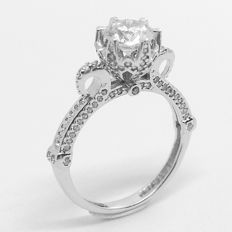 14k White Gold Ring with cubic zirconia – size 53(16mm)
