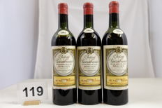 1961 Chateau Rauzan-Gassies Margaux Deuxieme Grand Cru Classe France, 3 Bottles