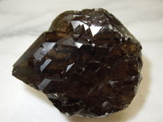 Dark Smoky Quartz with inclusions, Adular-Chlorith - 8 x 6.5 x 4 cm - 259 g