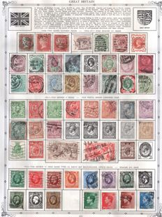 Great Britain 1850/1970 - Selection on stock pages.