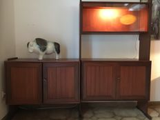 Unknown producer - Cherry wood Vintage Wall Unit
