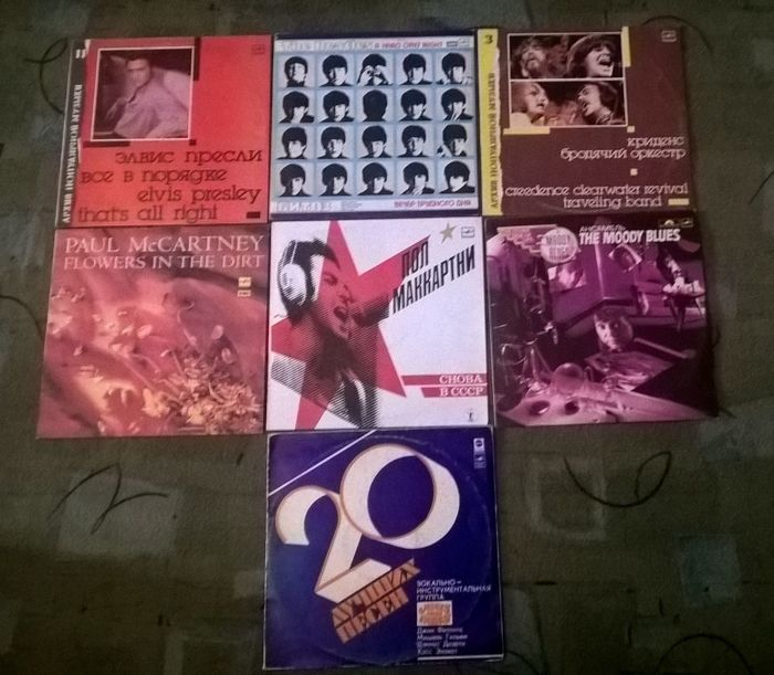 Set of 8 LP's – Elvis Presley, Creedence, Beatles, Mamas & Papas, Paul McCartney, Moody Blues