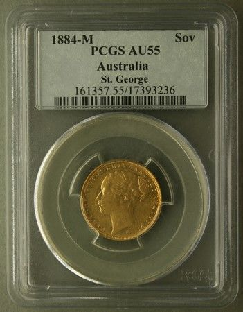 Australia - Sovereign 1884 Melbourne  (IN SLAB)  - Oro